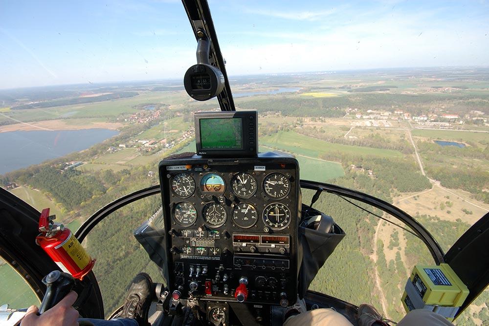 Hubschrauber Cockpit